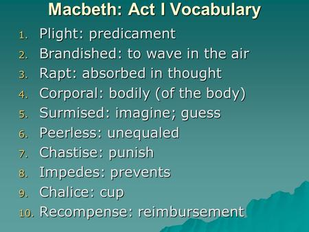 vocabulary builder macbeth act 3