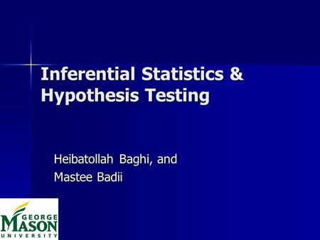 Inferential Statistics & Hypothesis Testing