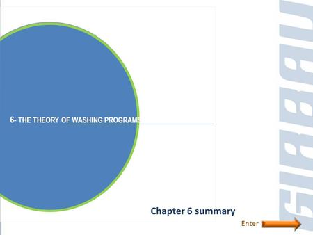6- THE THEORY OF WASHING PROGRAMS Chapter 6 summary Enter.