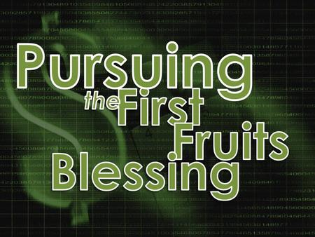 1. He will protect your increase as you walk in His will 22You shall celebrate the Feast of Weeks, that is, the first fruits of the wheat harvest,