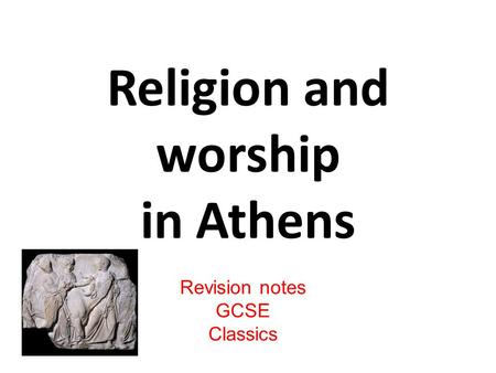 Religion and worship in Athens