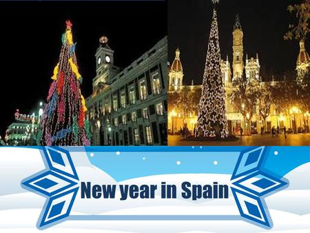 New year in Spain. Christmas is a deeply religious holiday in Spain. The country's patron saint is the Virgin Mary and the Christmas season officially.