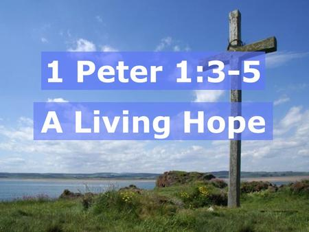 1 Peter 1:3-5 A Living Hope. The Resurrection!  Foretold by the prophets  Sign for unbelievers  His sacrifice was accepted  Central to the gospel.