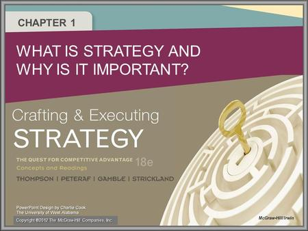 CHAPTER 1 WHAT IS STRATEGY AND WHY IS IT IMPORTANT? McGraw-Hill/Irwin Copyright ®2012 The McGraw-Hill Companies, Inc.