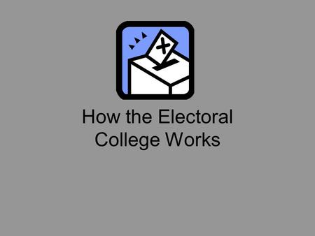 How the Electoral College Works Why was it Created? Framers questioned whether uninformed citizens would select an adequate leader for the nation  if.