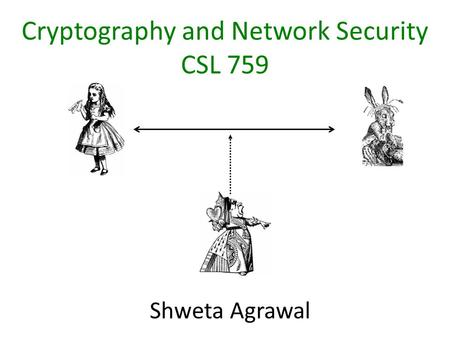 Cryptography and Network Security CSL 759 Shweta Agrawal.