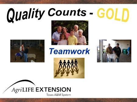 Quality Counts - GOLD Teamwork.