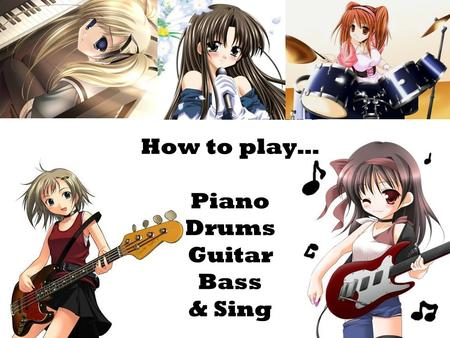 How to play… Piano Drums Guitar Bass & Sing. The notes on a piano go up in steps alphabetically from LEFT to RIGHT.