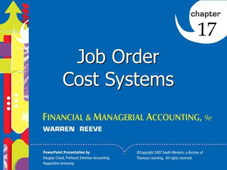 Click to edit Master title style 1 Job Order Cost Systems 17.