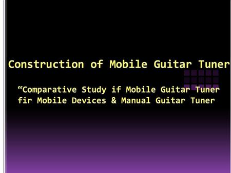 Objectives: This research aims to find out the attitude of the respondents between a mobile guitar tuner and a manual guitar tuner.