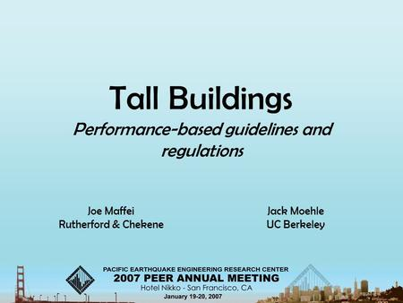 Performance-based guidelines and regulations