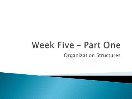 Organization Structures.  Understand the basic principles of organization management  What is an organization chart, and types of organization structures.