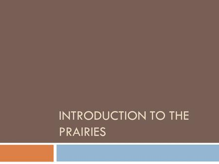 INTRODUCTION TO THE PRAIRIES. Where are the Prairies located?  Go to link below for.