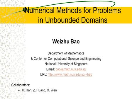 Numerical Methods for Problems in Unbounded Domains