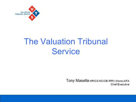 The Valuation Tribunal Service