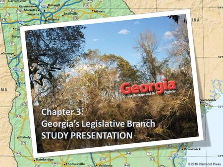 Chapter 3: Georgia's Legislative Branch STUDY PRESENTATION © 2010 Clairmont Press.