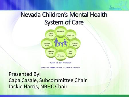 Nevada Children's Mental Health System of Care