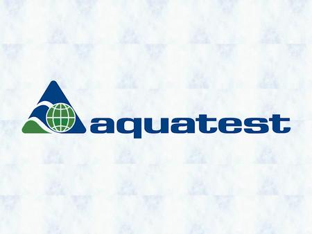 AQUATEST a.s. consulting and engineering services The environment Water management Recycling lines and waste Remediation and Remedial supervision Accredited.