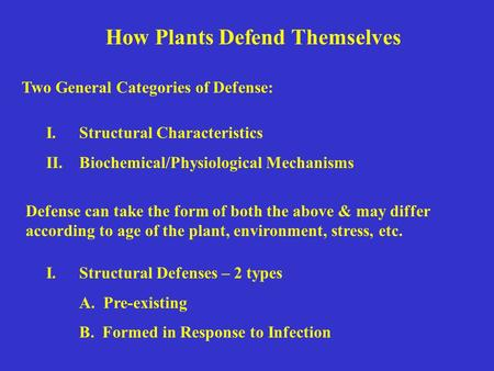 How Plants Defend Themselves