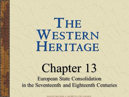 Chapter 13 European State Consolidation