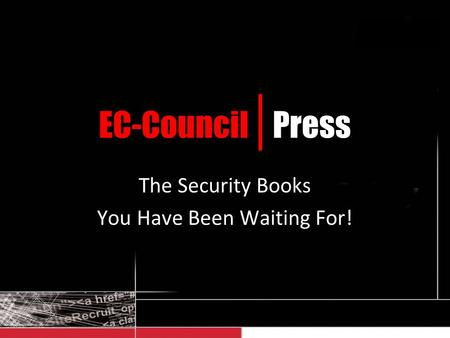 EC-Council | Press The Security Books You Have Been Waiting For!