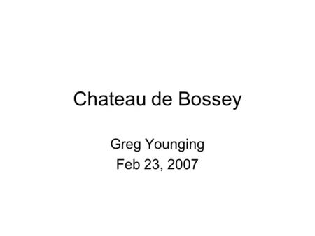 Chateau de Bossey Greg Younging Feb 23, 2007. The U.S. Indian Arts and Crafts Act 1. The Indian Arts and Crafts Board was established in 1935. It operates.
