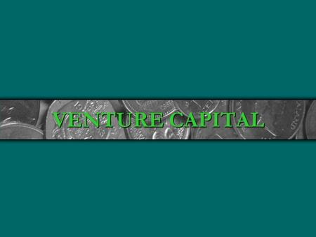 VENTURE CAPITAL.  Volatile: High Success and Failure Rates  Source of Innovation: New Ideas and Ways to do Things  Contribute Disproportionately to.