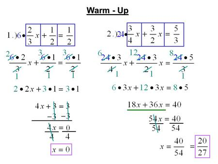 Warm - Up. Agenda CA Standards: 5.0: 5. Students solve multi-step problems, including word problems, involving linear equations and linear inequalities.