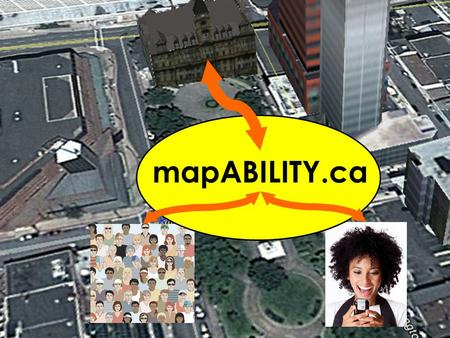 MapABILITY.ca. Interactive Map Engage Platform Accessibility Search Engine Custom Route Generator Information from users (Crowd- Sourcing) Information.