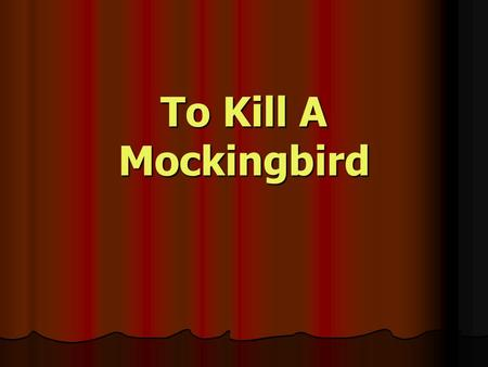 "discuss importance religion kill mockingbird harper lee To kill a mockingbird harper lee's novel ""to kill a mockingbird"" is seen as one of the best classics of american literature ""to kill a mockingbird"" is set in the fictional town of maycomb, alabama in the 1930's."