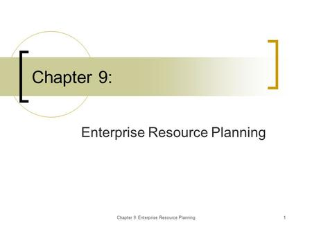 Mrp And Erp Chapter 12 Mis 373 Basic Operations