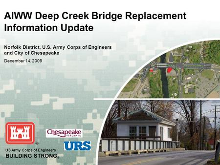 AIWW Deep Creek Bridge Replacement Information Update