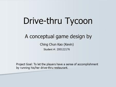 A conceptual game design by