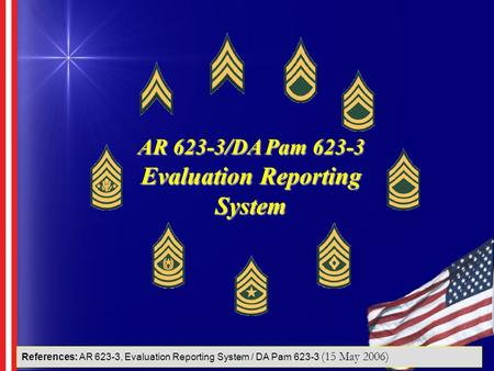 AR 623-3/DA Pam Evaluation Reporting System