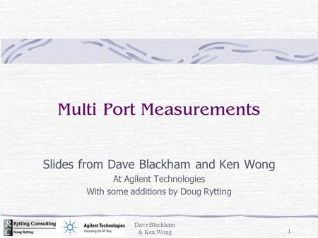 Multi Port Measurements