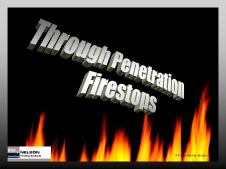 © Nelon Firestop Products. Through Penetration Firestops Through Penetration Firestops Topics for discussion What is a firestop? How is a firestop installed?