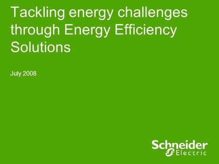 Tackling energy challenges through Energy Efficiency Solutions