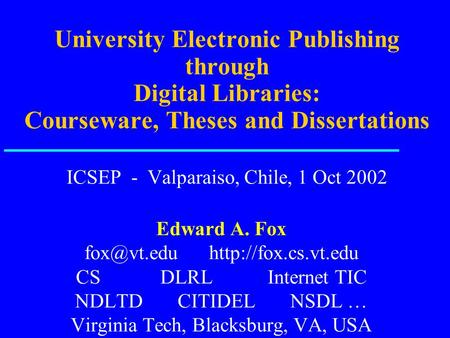 Vt electronic thesis dissertation library
