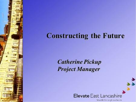 Constructing the Future Catherine Pickup Project Manager.