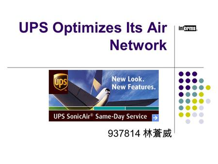UPS Optimizes Its Air Network