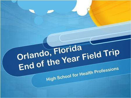 Orlando, Florida End of the Year Field Trip High School for Health Professions.