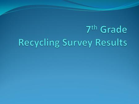 Number of Responses 112 households Total 118 surveys turned in as per request Total adjusted for siblings.