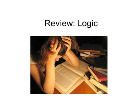 Review: Logic. Fallacy: Appeal to Novelty New is better.