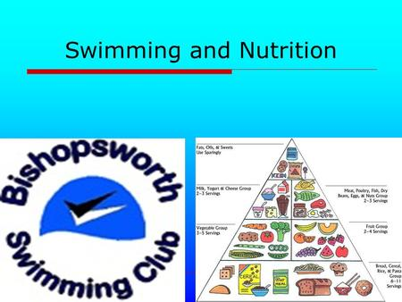 Swimming and Nutrition. The Basics of good eating Carbohydrate foods + Glycemic Index Fats Proteins Before, during and after events Fluids During the.