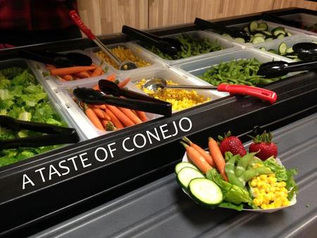 A TASTE OF CONEJO. Conejo Valley Unified School District Conejo Valley USD serves the communities of Newbury Park, Thousand Oaks, and Westlake Village.