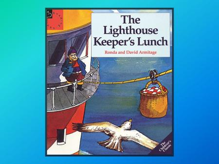 Once there was a lighthouse keeper called Mr Grinling. At night time he lived in a small white cottage perched high on the cliffs. In the day time he.