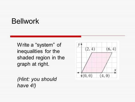 writing a system of inequalities from context