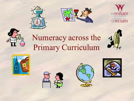 Numeracy across the Primary Curriculum. Definitions face mean negative root.