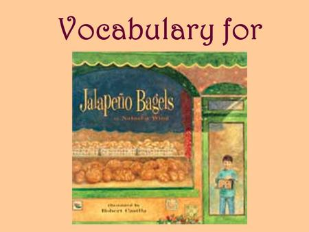Vocabulary for. bakery A place where bread and other baked goods are made and sold.