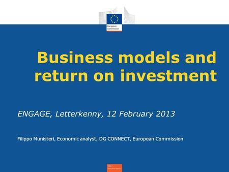 Business models and return on investment
